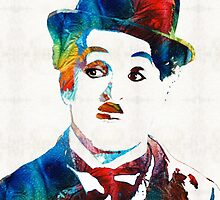 Charlie Chaplin Art - Oh Charlie - By Sharon Cummings by Sharon Cummings
