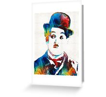 Charlie Chaplin Art - Oh Charlie - By Sharon Cummings Greeting Card