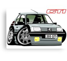 Peugeot 205 GTI caricature silver Canvas Print