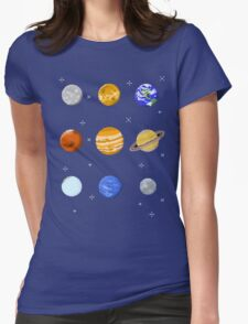 Pixel Planets Womens Fitted T-Shirt