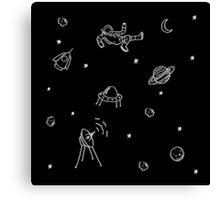 Doodle Space Canvas Print