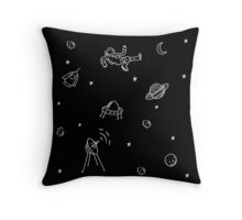 Doodle Space Throw Pillow