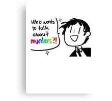 Adachi - Who Wants To Talk About Murders? (Persona 4) Canvas Print