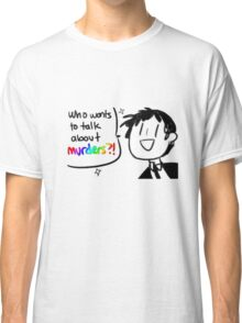 Adachi - Who Wants To Talk About Murders? (Persona 4) Classic T-Shirt