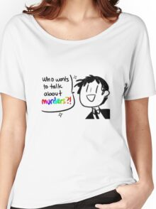 Adachi - Who Wants To Talk About Murders? (Persona 4) Women's Relaxed Fit T-Shirt