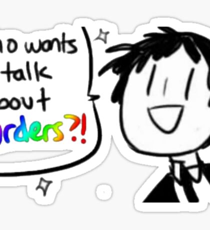 Adachi - Who Wants To Talk About Murders? (Persona 4) Sticker