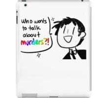 Adachi - Who Wants To Talk About Murders? (Persona 4) iPad Case/Skin