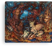 Unexpected Visit of the Clairvoyant Sphinx Canvas Print