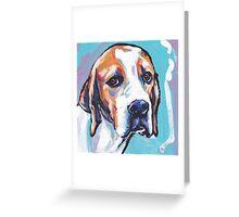 English Pointer Dog Bright colorful pop dog art Greeting Card