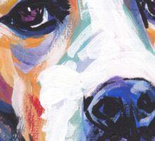 English Pointer Dog Bright colorful pop dog art Sticker
