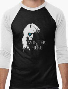 White Walker: Winter Is Here  Men's Baseball ¾ T-Shirt