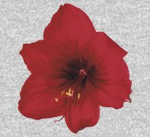 Handsome red flower One Piece - Long Sleeve