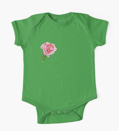 Cute pink rose One Piece - Short Sleeve