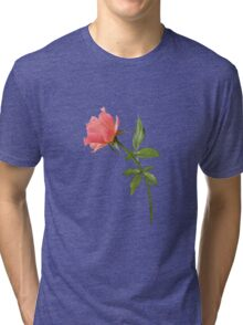 Romantic pink rose Tri-blend T-Shirt
