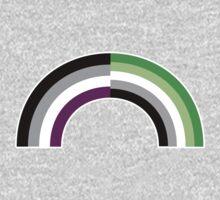 Aromantic Asexual Rainbow One Piece - Long Sleeve