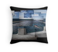 Newcastle Ocean Baths Throw Pillow