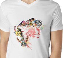 Fishbone Calcium Mens V-Neck T-Shirt