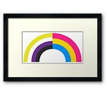 Non-Binary Pan Rainbow Framed Print