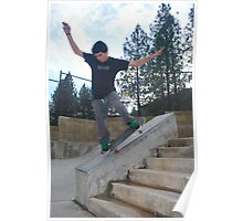 nose grind on the six stair-Mariposa Skate Park Poster