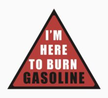 GASOLINE DANGER STICKER FOR BIKE by VisualAffection