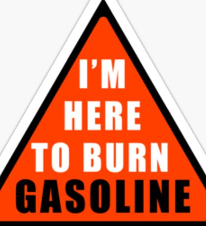 GASOLINE DANGER STICKER FOR BIKE Sticker