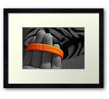 cure cancer Framed Print