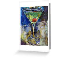 Summer Breeze Martini Greeting Card