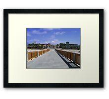 Florida Piers Framed Print