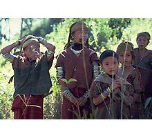 First contact: Karen women and girls meet Westerners  Photographic Print