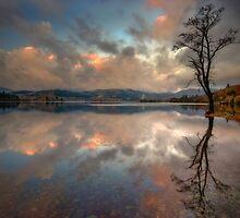 Loch Ard, Autumn light by David Mould