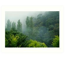 Weather Closes In, Walhalla, Gippsland Art Print