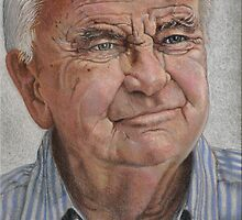 Kenneth Kendel – Broadcaster - Pastel by RodneyCleasby