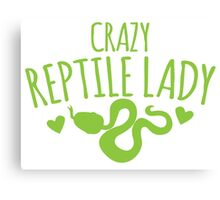 Crazy Reptile lady (SNAKE) Canvas Print