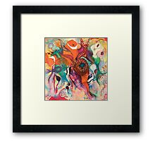 Sea of Colour Framed Print