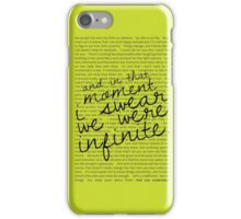 We Were Infinite - Quotes - Green iPhone Case/Skin