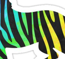 Zebra Black and Rainbow Print Sticker