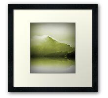Green Mountain Mist Framed Print