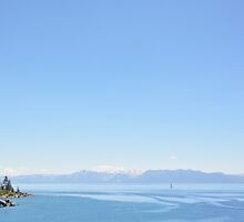 Sand Harbor Shades of Blue by adoredcreation