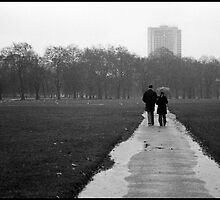 Walking in the Rain by AntSven
