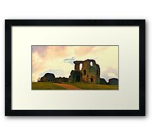 Denbigh Castle, in North Wales Framed Print