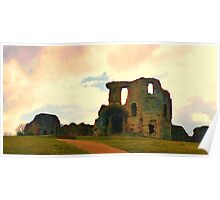 Denbigh Castle, in North Wales Poster