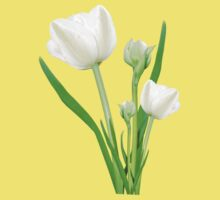 Bouquet of white tulips One Piece - Short Sleeve