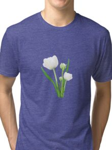 Bouquet of white tulips Tri-blend T-Shirt