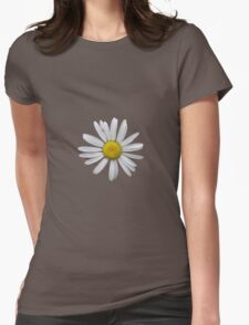 Wonderful white daisy Womens Fitted T-Shirt