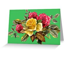 Watercolor rose bouquet Greeting Card
