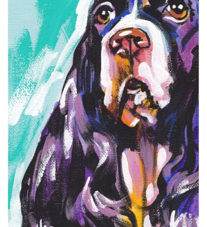 English Springer Spaniel  Bright colorful pop dog art Sticker