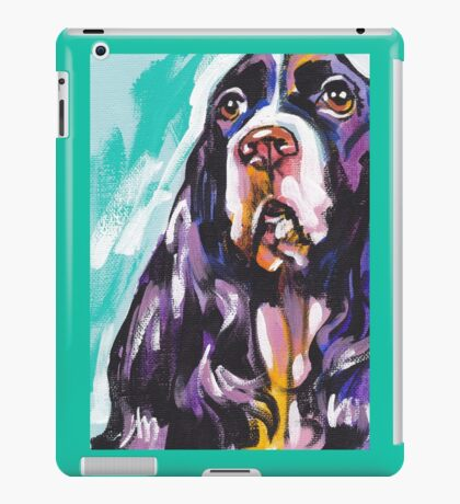 English Springer Spaniel  Bright colorful pop dog art iPad Case/Skin