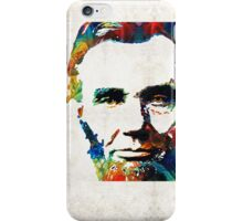 Abraham Lincoln Art - Colorful Abe - By Sharon Cummings iPhone Case/Skin