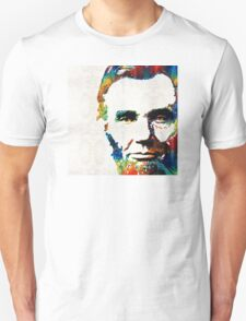 Abraham Lincoln Art - Colorful Abe - By Sharon Cummings Unisex T-Shirt