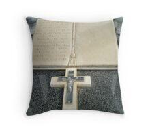 Beautiful Cross on tombstone - Werribee Cemetery Throw Pillow